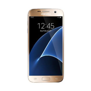 Samsung Galaxy S7 Flat Smartphone - Gold [32 GB/Garansi Resmi]
