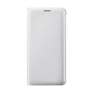 Samsung Genuine Flip Wallet PU Casi ... ng Galaxy S6 Edge - White