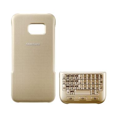 Samsung Keyboard Cover Case Original Casing for Galaxy S7- Gold