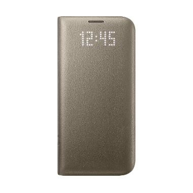 Samsung LED Cover Casing for Samsung Galaxy S7 Edge - Gold