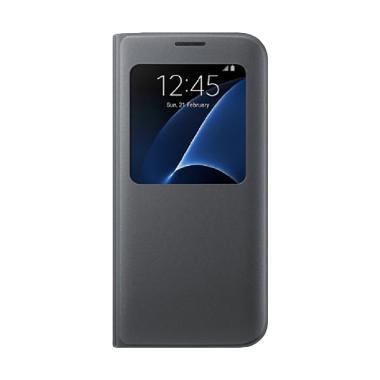 Samsung Original  S View Cover Samsung Galaxy S7 - Hitam
