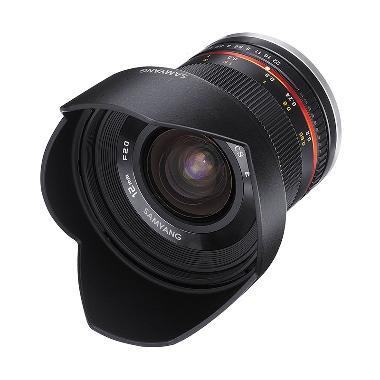 Samyang 12mm F/2.0 Lensa Kamera for Fuji X - Hitam
