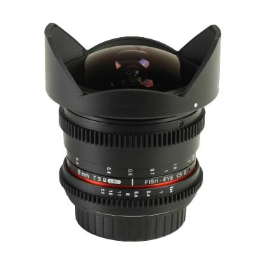 Samyang 8mm T3.8 UMC Fish-Eye CS II VDSLR Hitam for Canon Lensa Kamera