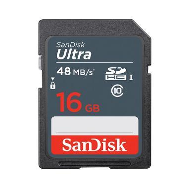 harga Sandisk Ultra SDHC 16GB Class10 48MB/s - SDSDUNB Blibli.com