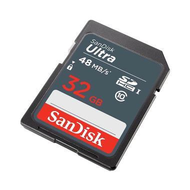 harga Sandisk Ultra SDHC SDSDUNB-032 SD Card [32 GB/48 Mbps]  790332 Blibli.com
