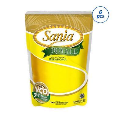 Sania Royale Minyak Goreng [2000 mL/6 Pouch]