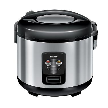 Sanken SJ-2100 Magic Com Rice Cooker - Hitam Silver [1.8 L]