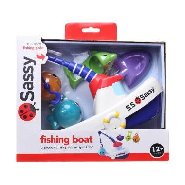 Sassy Fishing Boat Putih Mainan Bayi