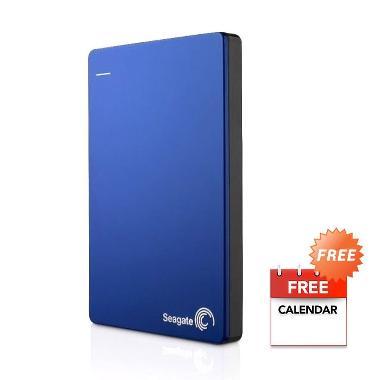 Seagate Backup Plus Slim Blue Hardisk Eksternal [1 TB] + Kalender