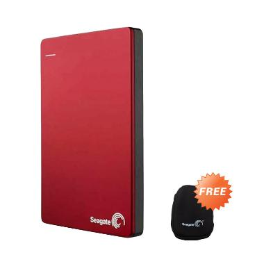 Seagate Backup Plus Slim Merah Hard ... 2.5 Inch/USB 3.0] + Pouch