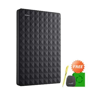 Seagate Expansion New Hard Disk Eks ... o Green Bag + Pouch + Pen