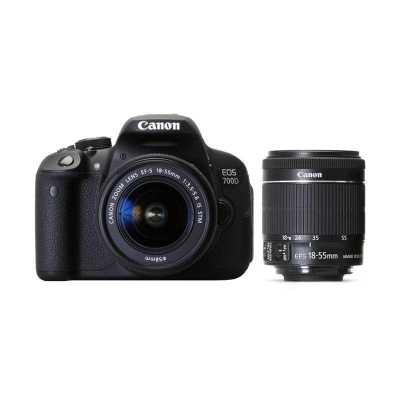 Canon EOS 700D Kit EF-S 18-55mm f/3.5-5.6 IS STM Kamera DSLR
