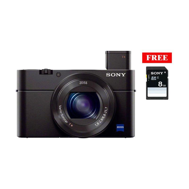 Sony DSC RX100 M3 Hitam Kamera Pocket + SDHC 8GB