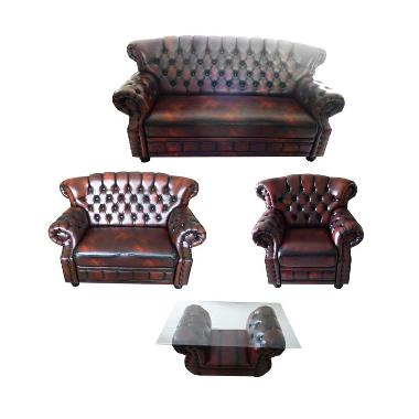 Sentra Furniture Sofa CS-02 Wosh Set Sofa - Maroon