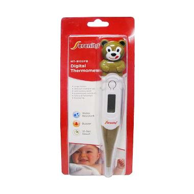 Serenity Thermometer Digital Animal Bear - Coklat