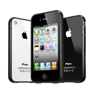 SGP Linear Ex Color Casing for iPhone 4S - Soul Black