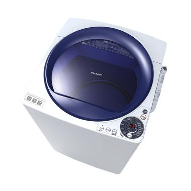 Sharp ES-M905P-WB Blue Mesin Cuci [9 kg/Top Loading]