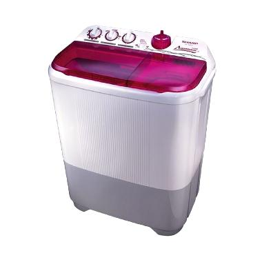 Sharp ES-T95CR-PK Twintub Pink Mesin Cuci [Low Watt/Super Aquamatic]