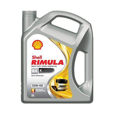 Shell Rimula R4X 15W 40 Oli Mobil Mesin Diesel 5 Liter