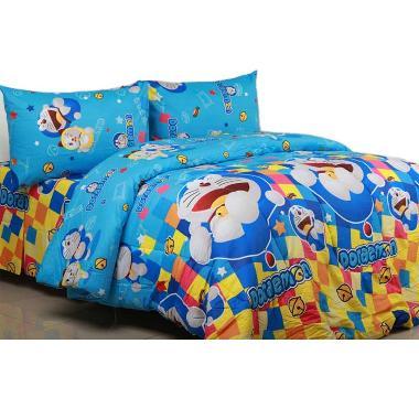 Sierra Doraemon Disco Bedcover dan Sprei Set