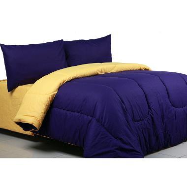 Sierra Polos Violet x Eggyolk Set Bedcover dan Sprei