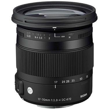 Sigma 17-70mm f/2.8-4 DC Macro OS HSM Lensa Kamera for Nikon - Hitam