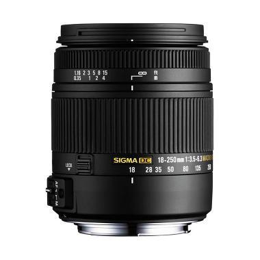 Sigma 18-250mm F3.5-6.3 DC Macro HSM Lensa Kamera for Nikon - Hitam