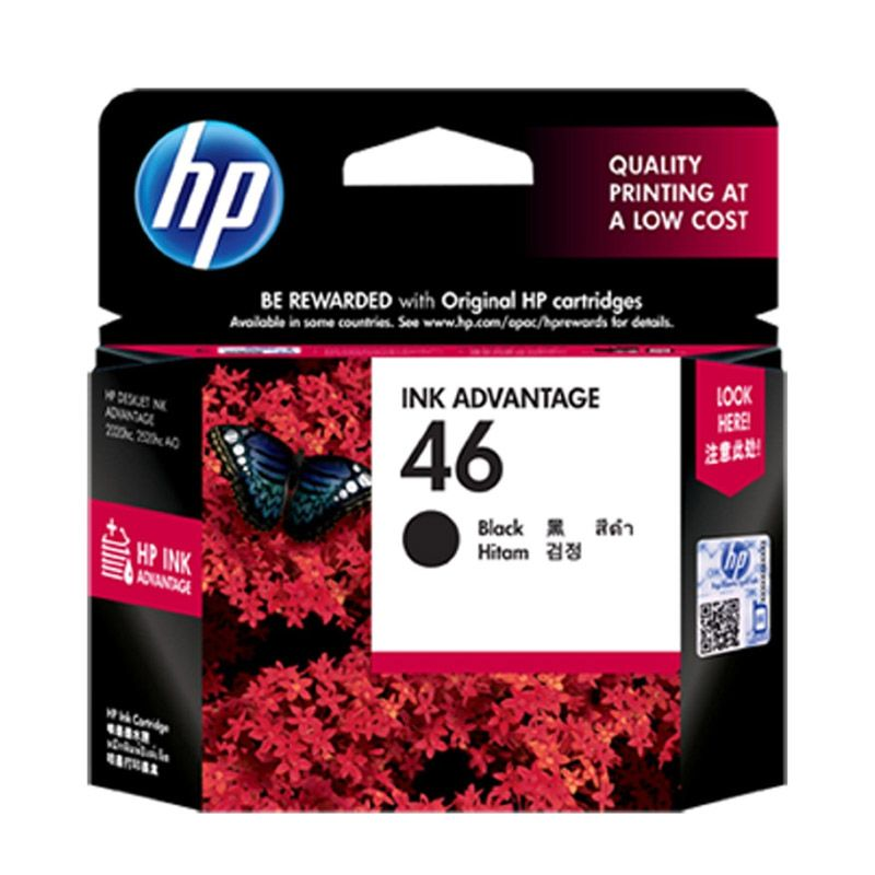 HP 46 Black Tinta Printer           ...