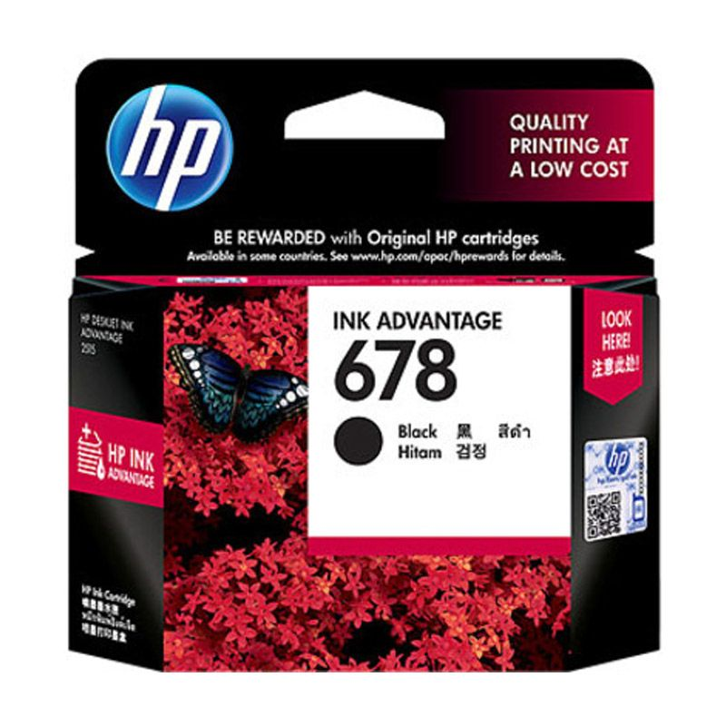 HP 678 Black Tinta Printer          ...