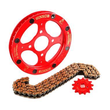 Sinnob Paket Gir Premium Merah Untu ... 5 Helm In [PGR1048-Merah]