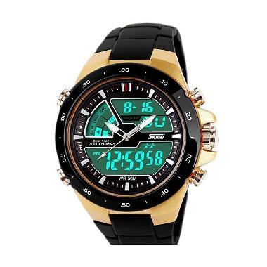 SKMEI Dual Time Digital Ring Watch Hitam Gold - Jam Tangan Pria