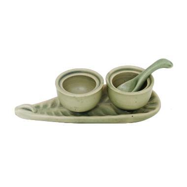Smesco Trade Tempat Garam Gula Keramik - Hijau