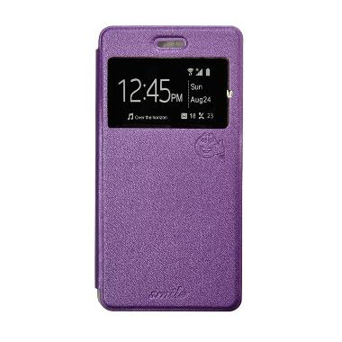 SMILE Flip Cover Casing for Oppo Joy - Ungu