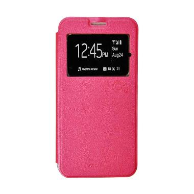 SMILE Flip Cover Casing for Oppo Neo 7 A33 - Hot Pink