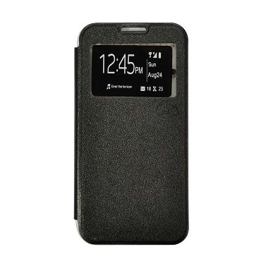 SMILE Flip Cover Casing for Samsung Galaxy Alpha G580 - Hitam
