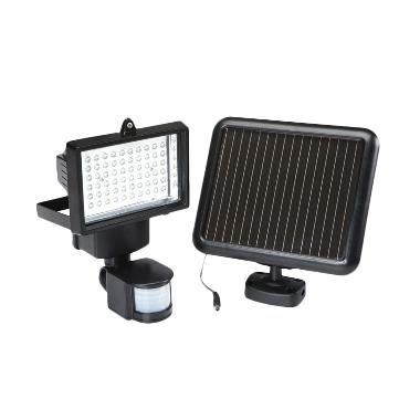 Solar Lantern 60 LED Lampu Tembak P ... anan Tenaga Surya - Hitam