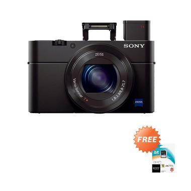 Sony DSC RX100 MARK III Hitam Kamera Pocket + Memory SD 8 GB