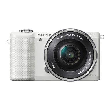 Sony Alpha A5000L Kit 16-50mm PZ OS ... - White + Free Memory 8GB