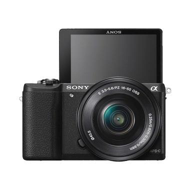 Sony Alpha A5100L Kit 16-50mm PZ OS ... - Black + Free Memory 8GB