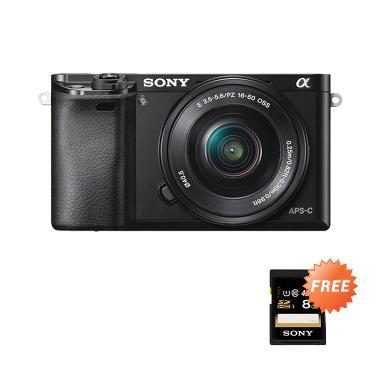 Sony Alpha A6000 Kamera Mirrorless - Hitam + Free SHDC 8GB