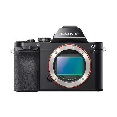 SONY Alpha A7 Digital Kamera Mirrorless + Sony FE 50mm f 1.8 - Hitam