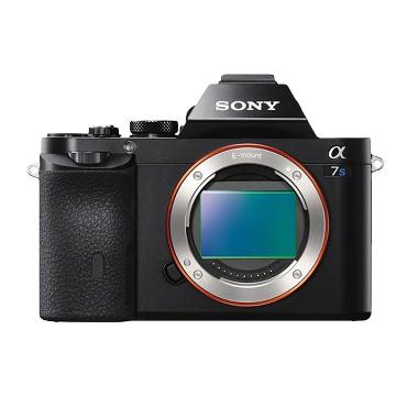 Sony Alpha ILCE 7S Hitam Kamera Mir ... rding [12.2 MP/Body Only]