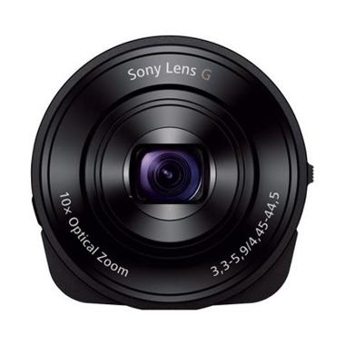 Sony DSC-QX10 Lens-Style Lensa Kamera - Black