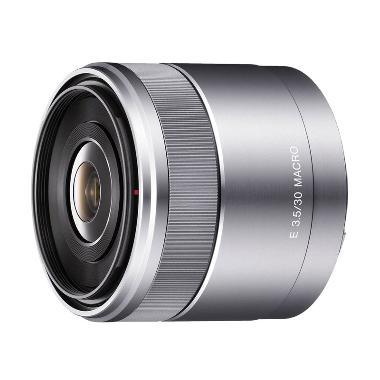 Sony E 30mm f 3.5 Macro Silver Lensa Kamera