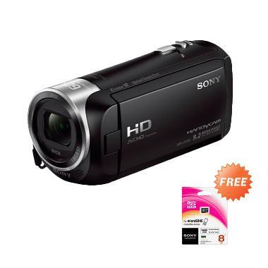 Sony HDR CX405 Hitam Camcorder + Sony 8GB microSDHC Class 4 UHS-I