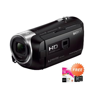 SONY HDR PJ410 Camcorder - Hitam + Free SONY MicroSD Memory Card 8 GB