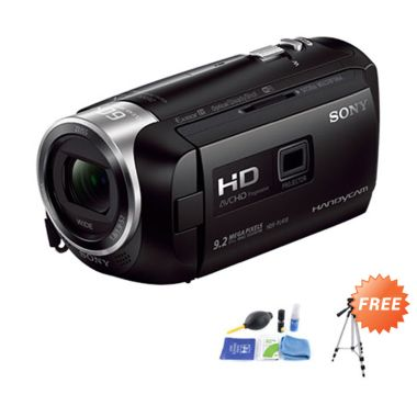 Sony HDR-PJ410 HD Handycam with Bui ... r + Tripod + Cleaning Kit