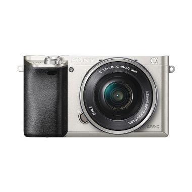 SONY ILCE 6000L Silver Kamera DSLR RESMI SONY INDONESIA