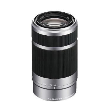 Sony SEL 55-210mm Lensa Kamera - Silver [SEL55210]