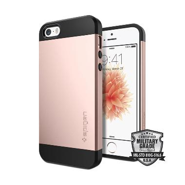 Spigen Slim Armor Casing for iPhone 5/5S/SE - Rose Gold